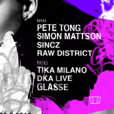 Smolna: Pete Tong / Raw District / Sincz / Simon Mattson / DkA live / Tika Milano / Glasse